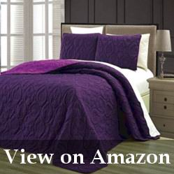 Light Purple Reversible Embossed Comforter Review