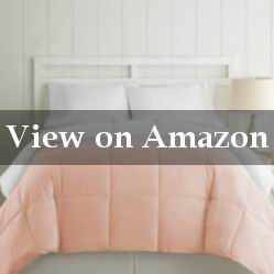 Lightweight Blush Microfiber Quilted Comforter Review