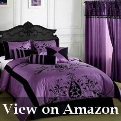 Purple and Black Comforter Sets Review