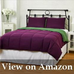 Purple and Green Twin-Size Comforter Review