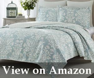 navy blue quilt set reviews