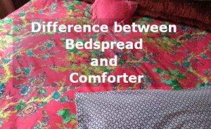 difference between bedspread and comforter