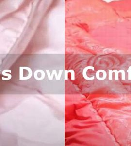 silk vs down comforter