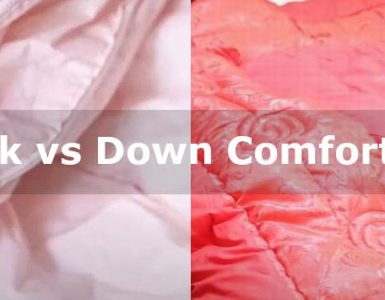 silk vs down comforter